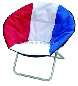 folding saucer chair with multiple colors