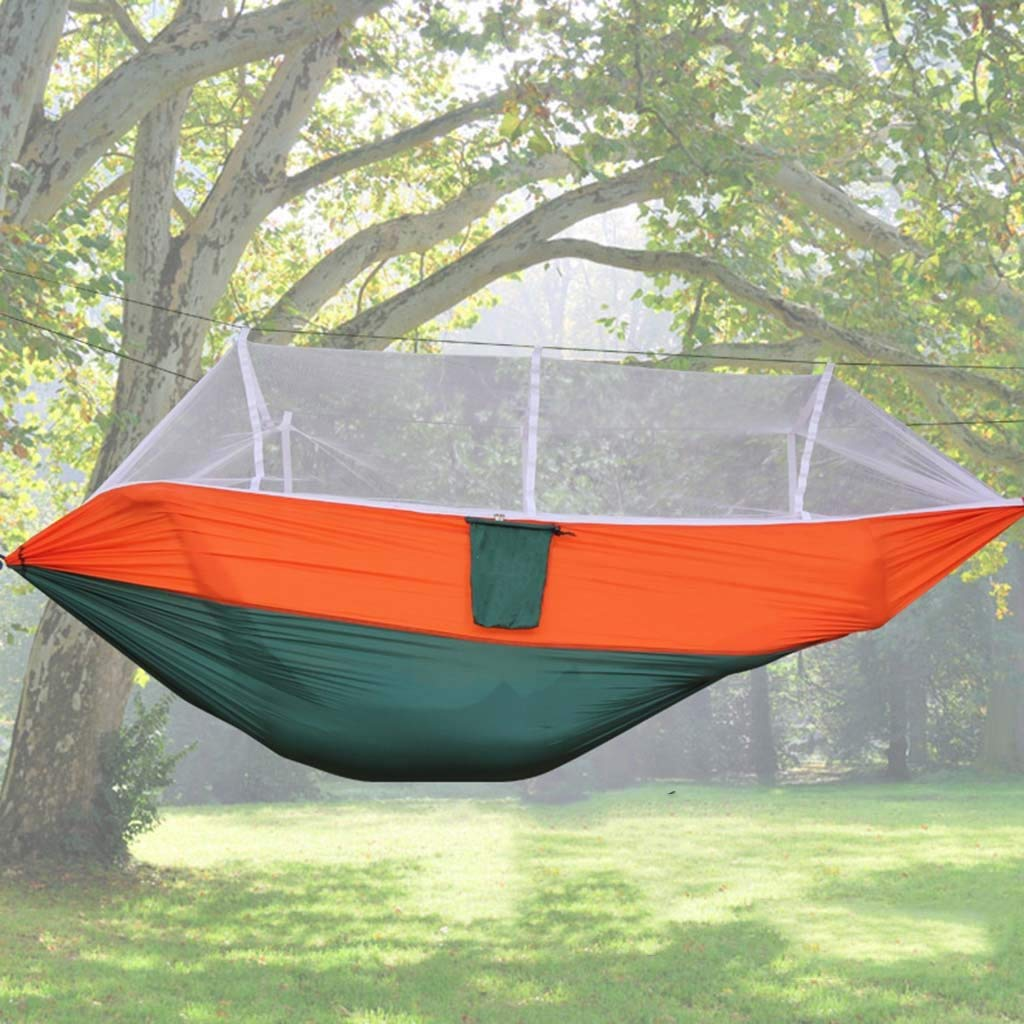 Ren Chang Jia Shi Pin Firm Parachute cloth outdoor hammock with mosquito net tourism hiking camping swing