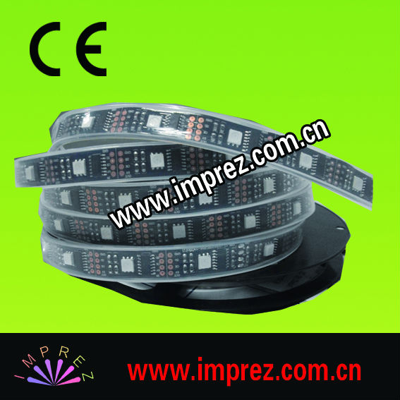 High Quality Waterproof IP67 DC5V Input <strong>RGB</strong> 30pcs 5050 SMD with 10PCS 2811IC Digital Led Strip