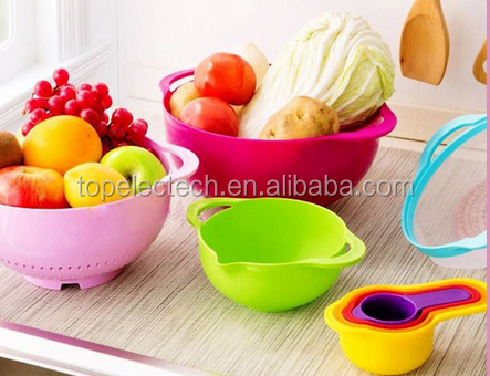 Food Prep and Measuring Set/8 Pcs Rainbow Mixing Bowl