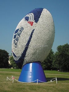 Advertising giant inflatable rugby ball,inflatable nfl