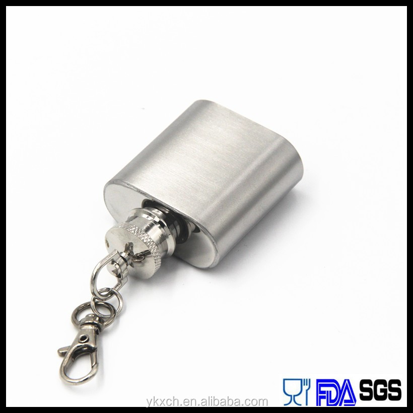 2016 year Christmas days gift is 1oz keychain hip flask