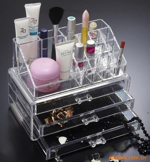 organizer box for jewelry storage box in acrylic makeup. Black Bedroom Furniture Sets. Home Design Ideas