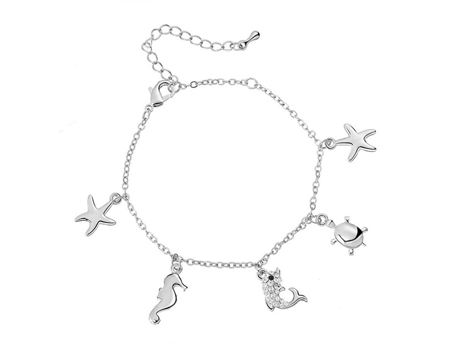 PORPI-JOJO Sea Animals Anklets for Women Anklet Bracelet Barefoot Sandal Beach Foot Fashion Jewelry for Mother's Day