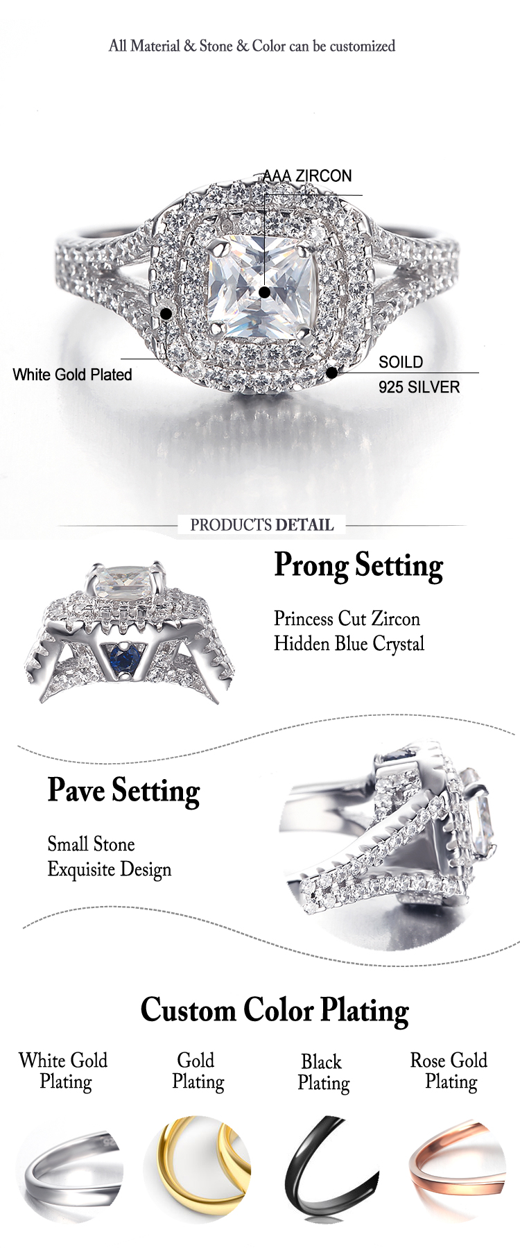 wedding and engagement different types italian stones silver ring