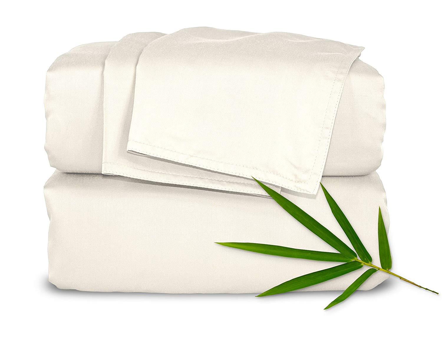 Pure Bamboo Sheets King 4pc Bed Sheet Set - 100% Bamboo Luxuriously Soft Bed Sheets (King, Ivory)