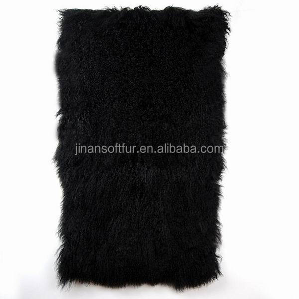 Natural long hair Mongolian fur for kids coat