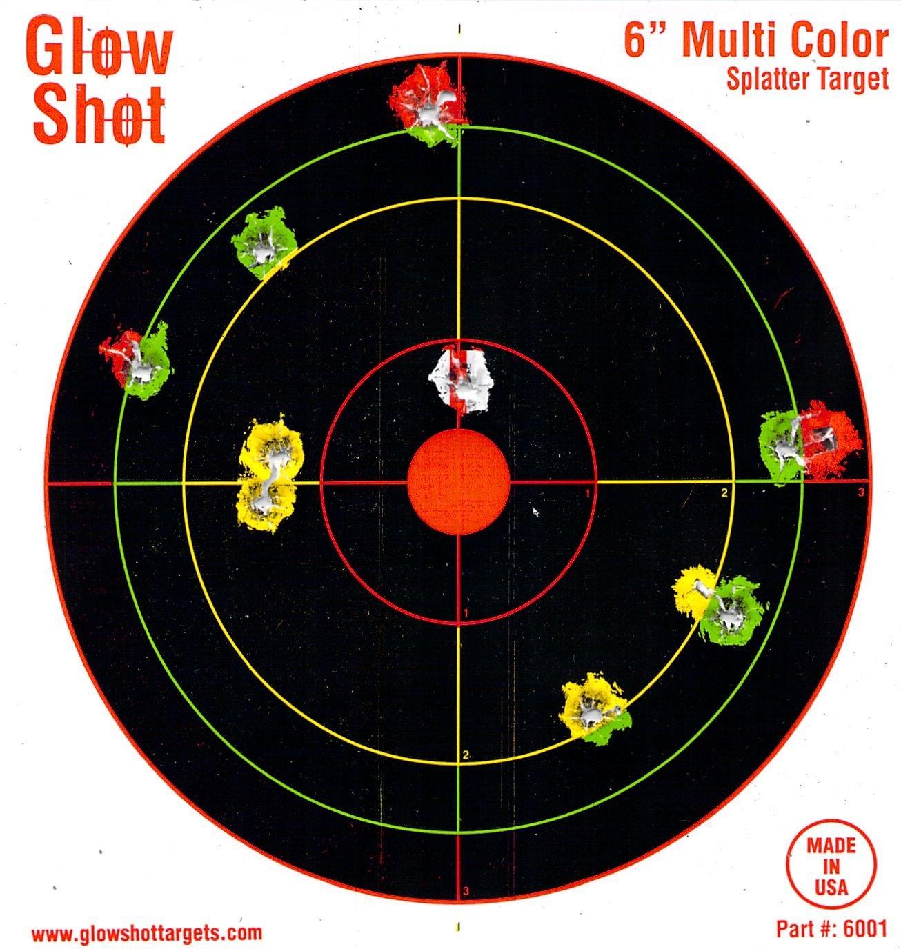 "60 Pack - 6"" Reactive Splatter Targets - Glowshot - Gun and Rifle Targets"
