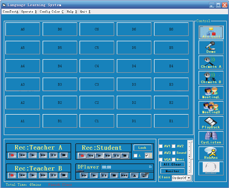 software interface for analog lab