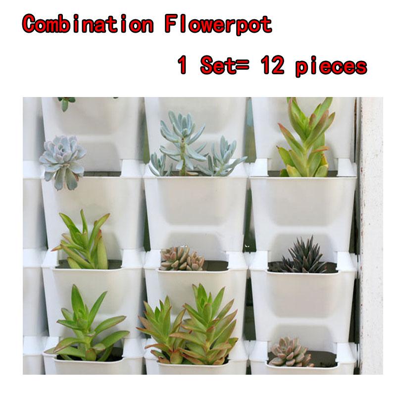 flower pots planter for balcony flower combination flowerpot three dimensional wall planters pot. Black Bedroom Furniture Sets. Home Design Ideas