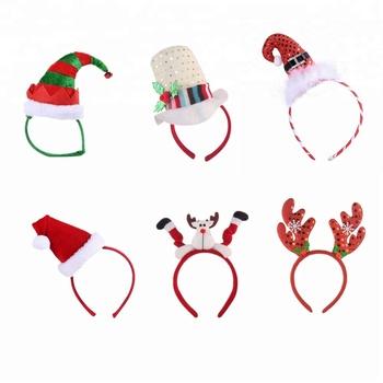 2018 new production christmas party decoration reindeer shaped elf christmas hat headband - Elf Christmas Party Decorations