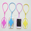 Universal multi-purpose silicone rubber neck lanyard for hold phone