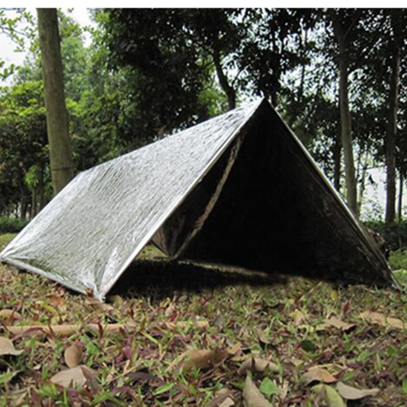 RM-ET01 Big disounts emergency PET film tents survival shelters