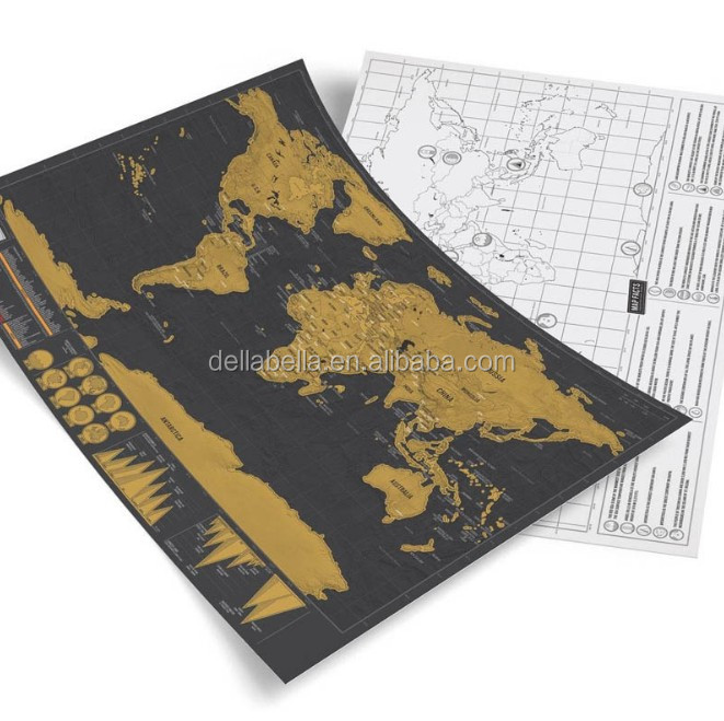 Mini Scratch Mappa Del Mondo