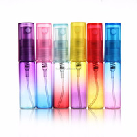 Manufacturer custom made refillable empty cylinder perfume sample vial glass pump spray bottles