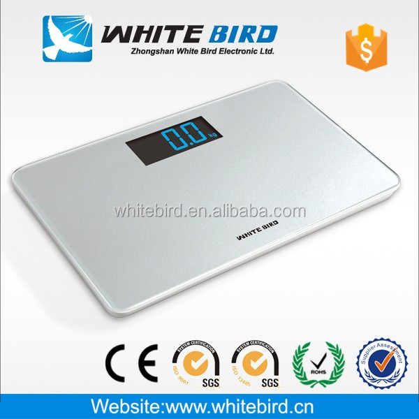 New tempered glass bathroom <strong>scale</strong> BG-1003 colorful large LCD display