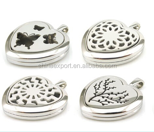 hot selling heart aroma aromatherapy diffuser locket pendant