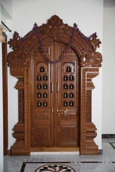 Carved Wooden Door Buy Wood Craft Door Product On