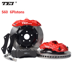 TEI Racing S6 6-Pistons One-piece forged audi brake caliper with 380mm disc for 18'' or bigger wheels