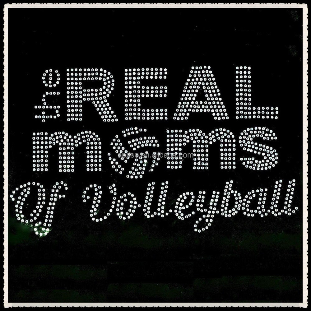 Aprise - The Real Moms of Volleyball hot fix rhinestone transfer iron on motif