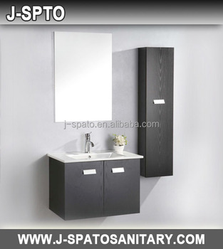 Mdf Pvc Cupboard Bathroom Wash Basin Cabinets With Cultured Marble Top