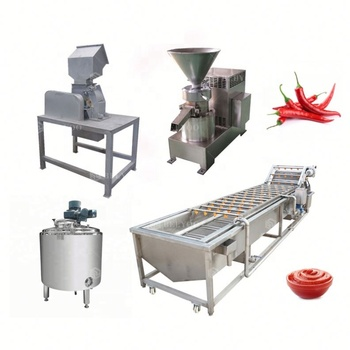 Pepper paste production line chilli sauce grinding processing machinery chilli paste making chilli paste grinding machine