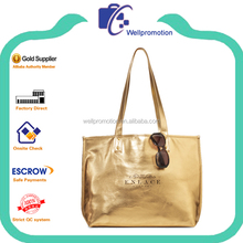 Wellpromotion new designed cheap fashion shinny beach hand bag