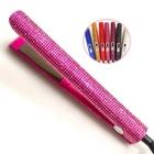 Sengfi Hot Sale Fashion Private Label Custom MCH LCD Display Diamond Crystal Bling Ceramic Flat Iron Hair Straightener