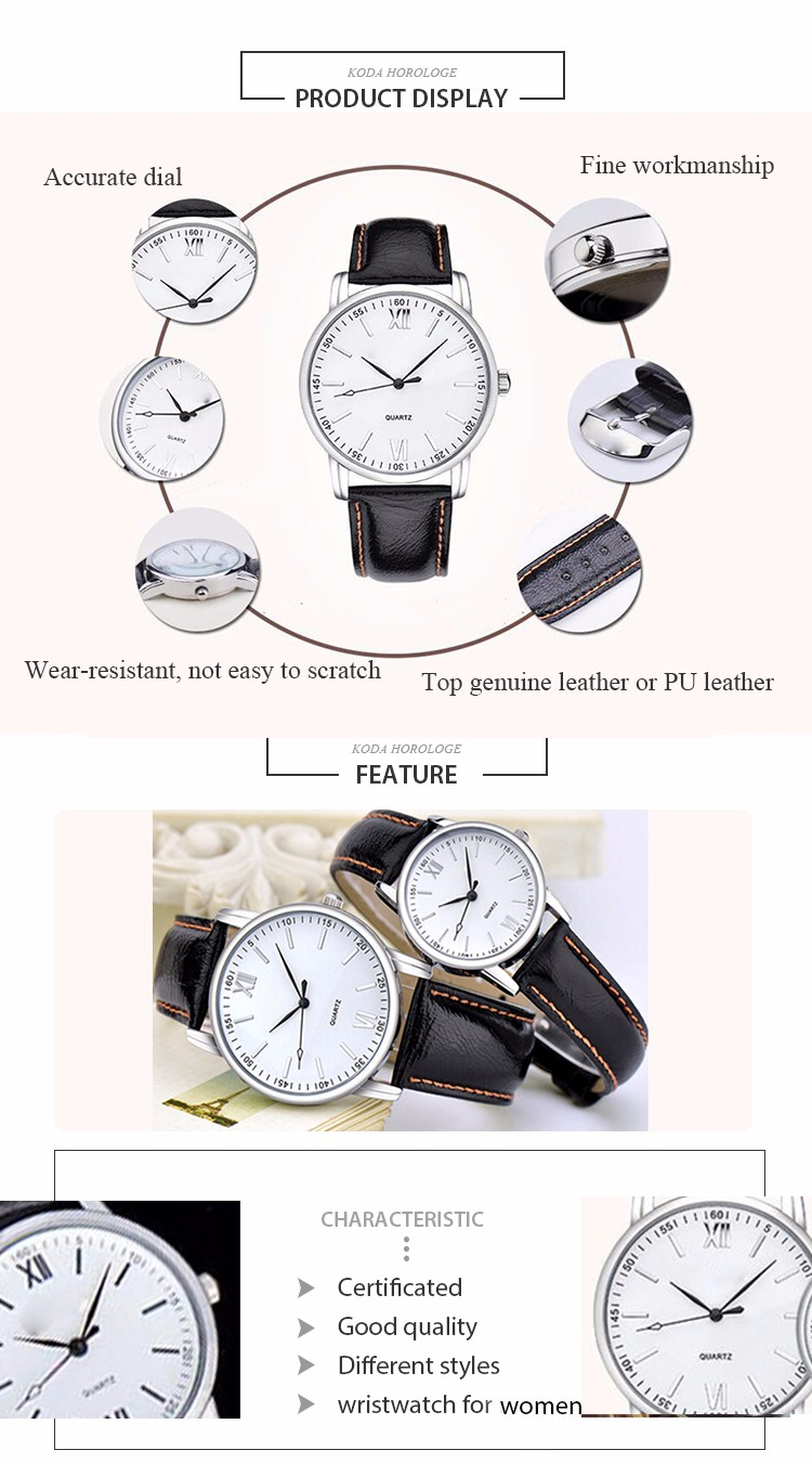Hotsale Custom Genuine Leather Couple Watches