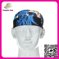 Mountain outdoor pirates headband digital Printting cycling cap hat