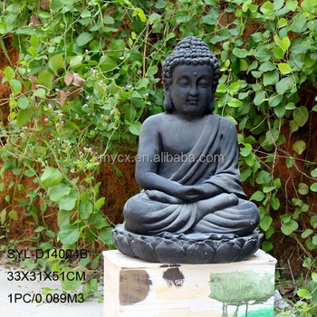 Magnesia Large Black Buddha Statue For Garden Ornaments - Buy Black ...