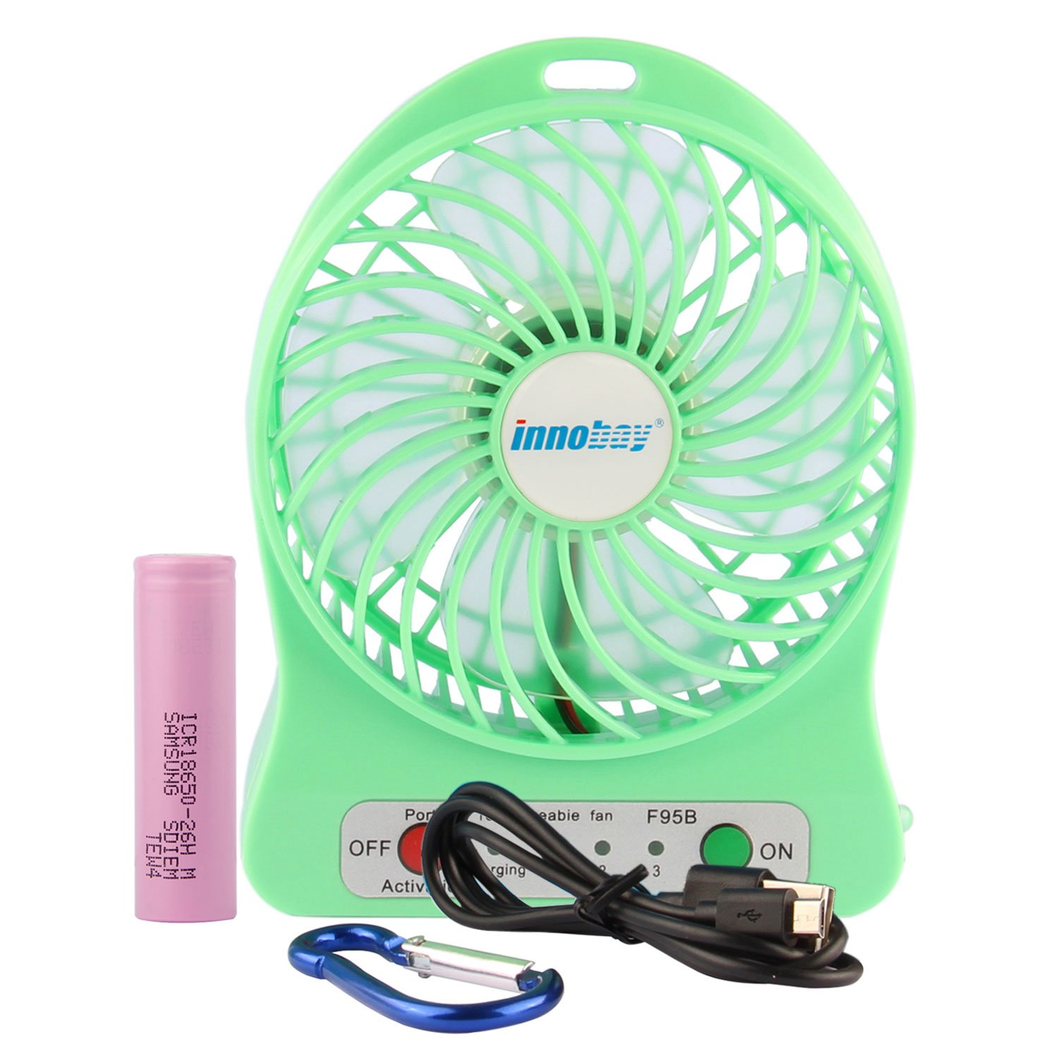 INNOBAY Desk Wall Mountable Mini Rechargeable Fan Clip On Versatile Cooling Fan for Stroller, Home, Office, Bedroom, Gaming Room, Computer Table and Multi-scenes /(Pink/)