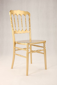 2017 hot sale gold napoleon chairs wood dining chair for weddings, events