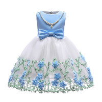 China Wholesale Clothing Kids Frock Designs Pictures Children Clothes Girls Wedding Party Dress