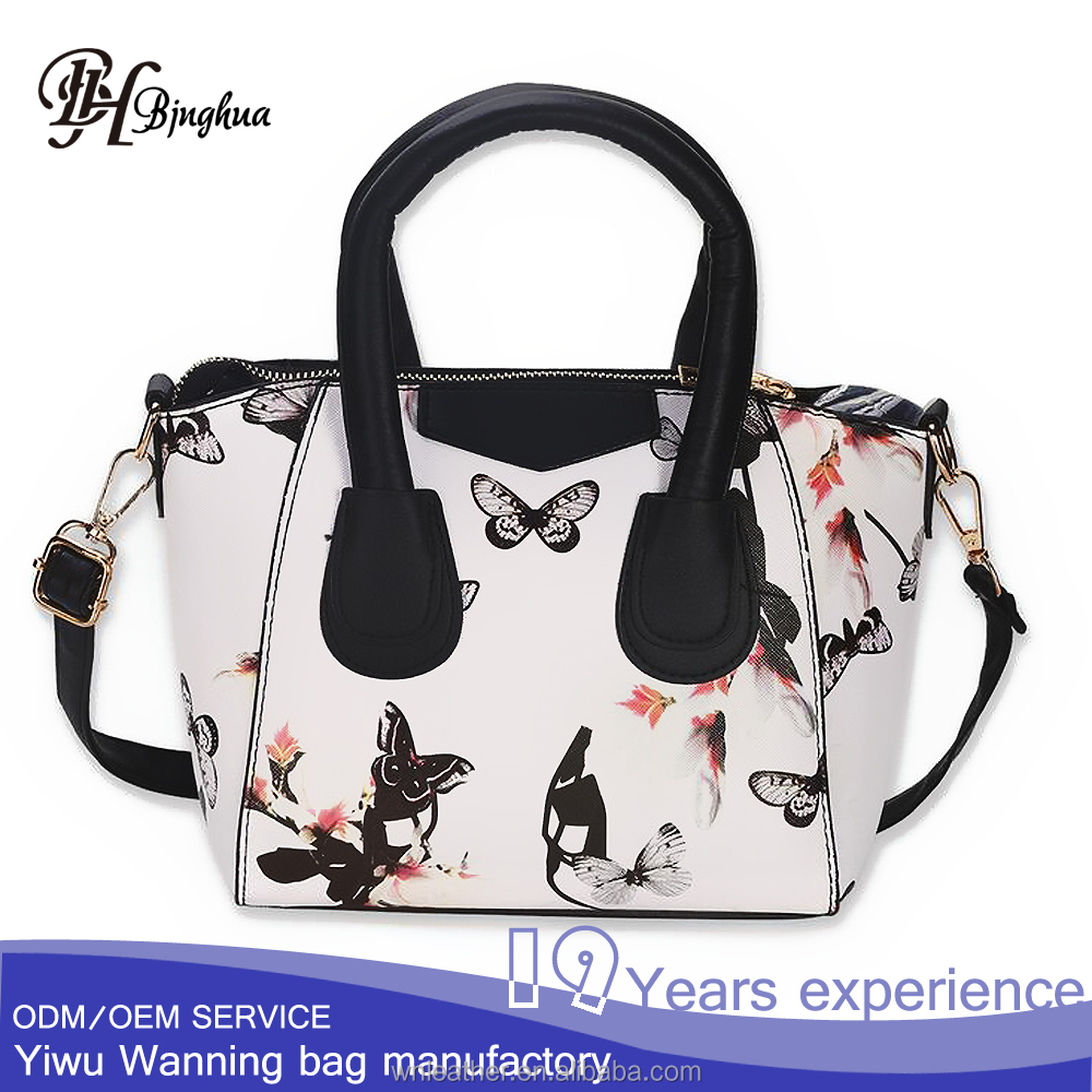 AL-036 Wholesale Custom print Ladies bags <strong>handbag</strong> with shoulder strap