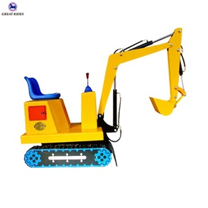 Original manufacturer coin operated amusement park rides kiddie toy electric mini crawler excavator for sale