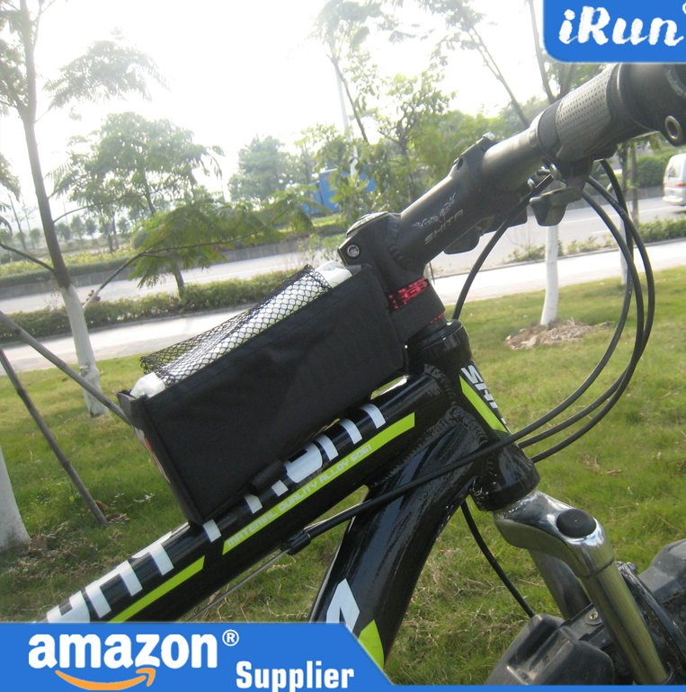 Cycling Bike Bicycle Trame Front Basket Tube Pannier Bag For Smart Cell Phone and Towel - Black Bike Tube Box - Accept Custom