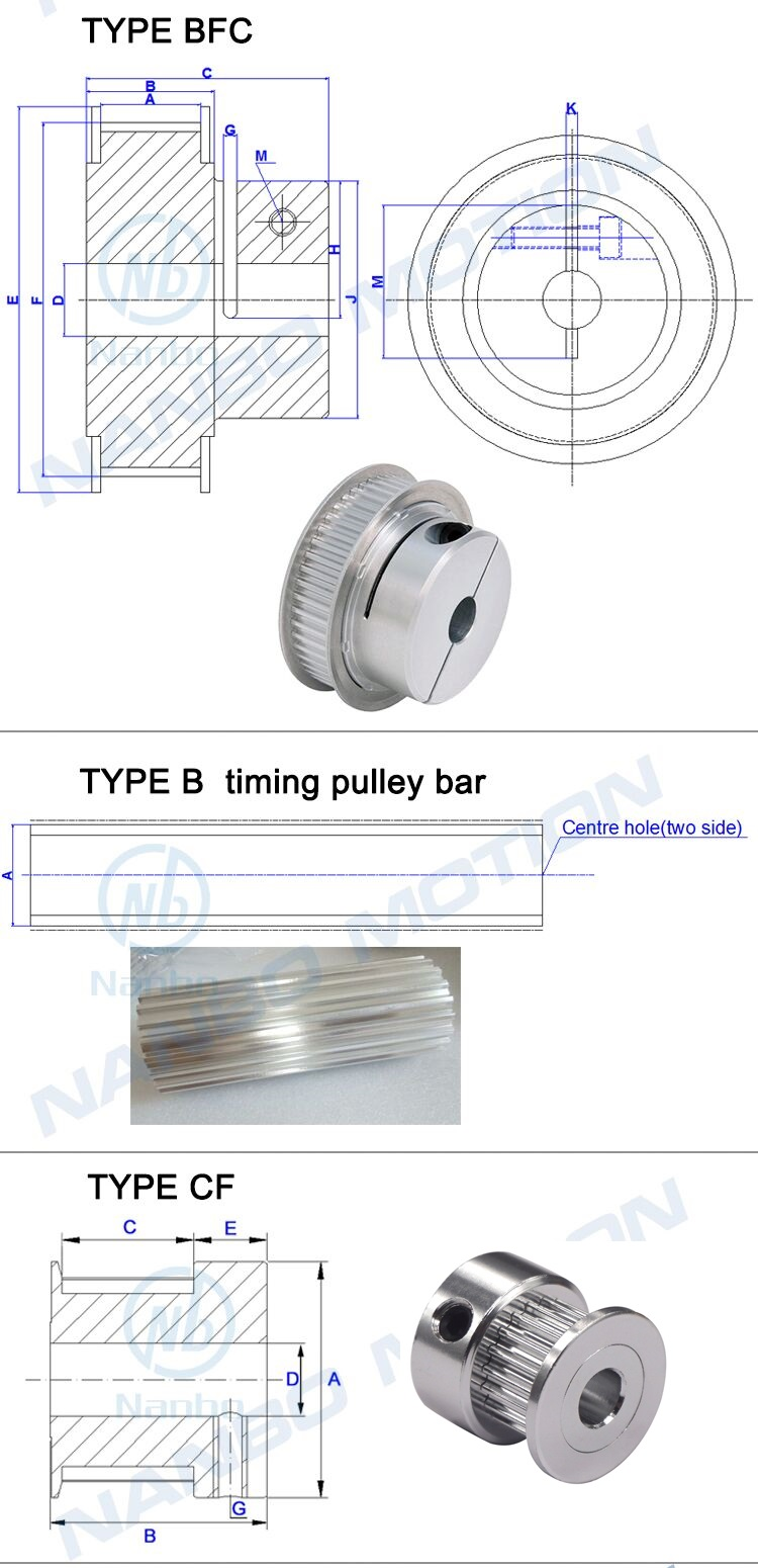 HTD Timing Pulley 5m 36t Electric Skateboard Pulley Custom