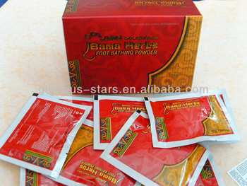 1box-herbs bama foot bathing powder Chinese or Englis ARABIC package