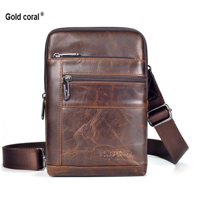 2f74cdac081a Новая мода 100% гарантия натуральная кожа малый бизнес мужчины сумка  почтальона сумочки .