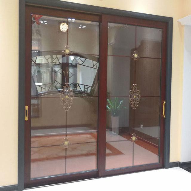 oil and soot resistant sliding door system aluminium three panel sliding glass door & China Glass Panel Aluminum Door Wholesale 🇨🇳 - Alibaba