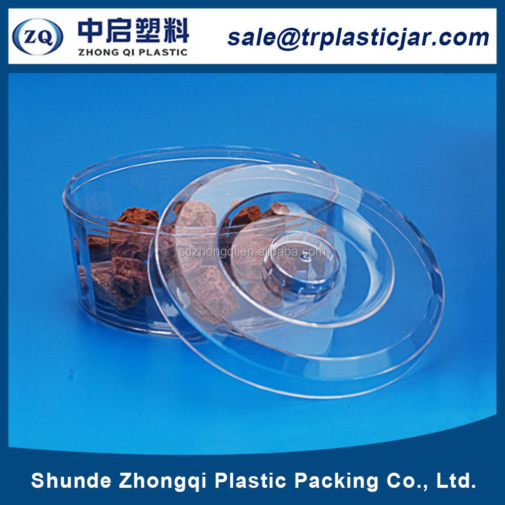 China supplier 250ml round PS plastic box,250ml round cylindrical food container