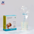 High Quality Leakproof Clear Double Zipper Seal Baby Breast Milk Bag Generic Pack