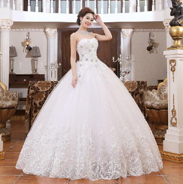 ed62001a6468b79 свадебные платья невесты платья повязки сверла кружева платье принцессы  завернутый груди бальные платья свадебное платье WD034