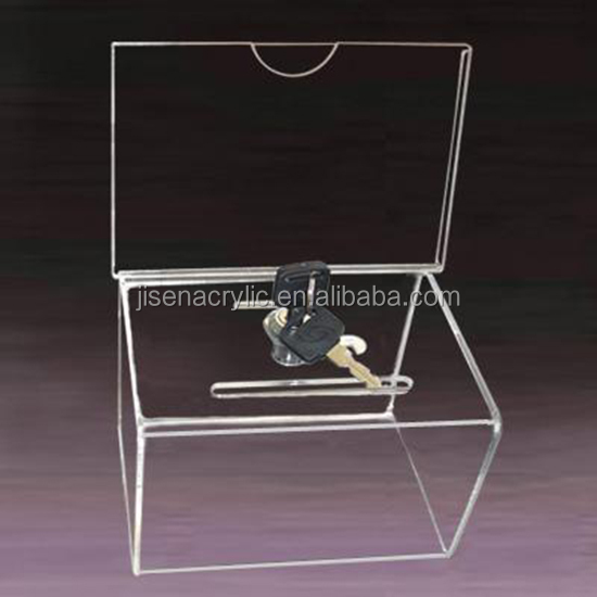 Clear acrylic donation box,Storage charity donation box,clear perspex/plexiglass donation collection box