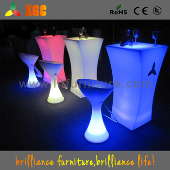 Night club lighting illuminated led tablebar height table setled night club lighting illuminated led tablebar height table setled dj table aloadofball Image collections