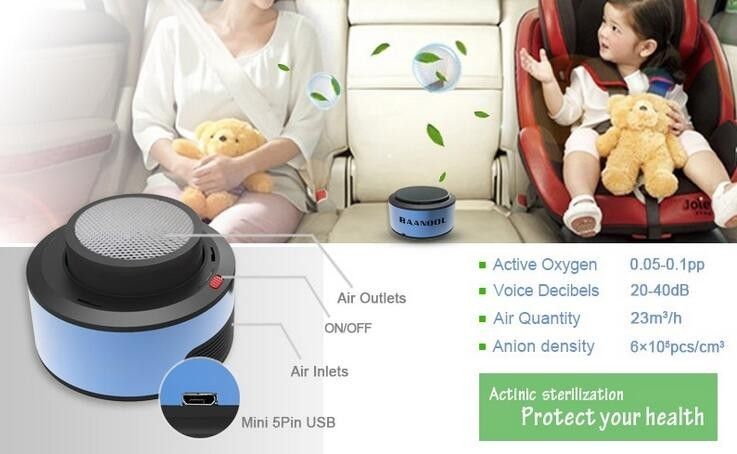 2016 newest air purifier for car and vehicles Powerful purification