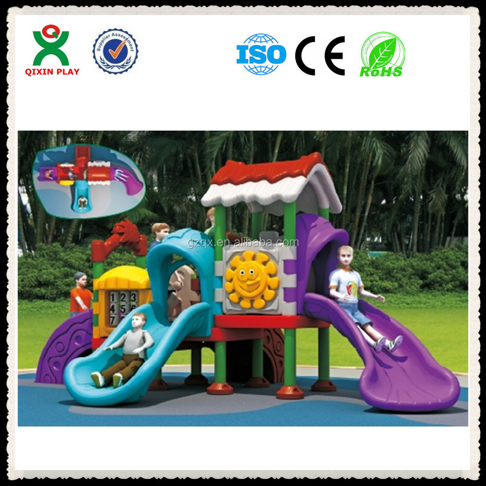LLDPE Roller slide playground, slip and slide material, outdoor plastic playsets for toddlers/QX-072D