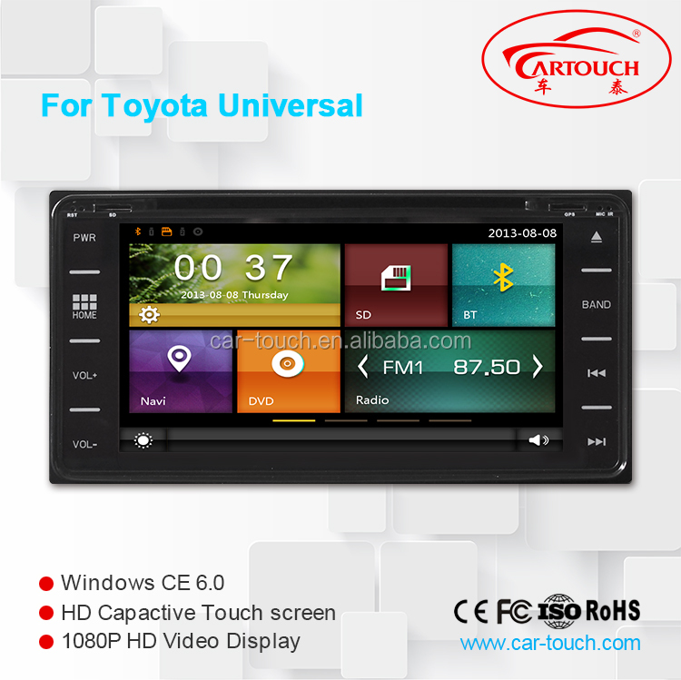 touch screen car dvd player for Toyota Universal with GPS navigation and radio