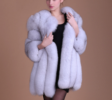 2017 new women imitation fur coat long section of the fox fur women coats